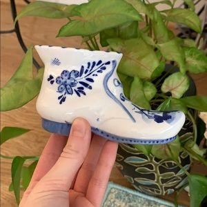 Vintage Ceramic  Shoe, Vintage Home Decoration